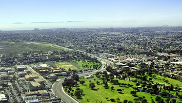 Aerial picture of south Costa Mesa
